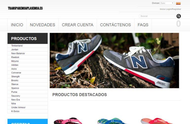 Captura de pantalla de la dirección web del portal de transparencia de Plasencia