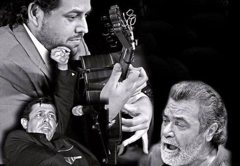"""Imagen del cartel que anuncia la presentación del disco de José de Pura """"De Chiclana a la Carbonería. Homenaje a mis maestros""""."""