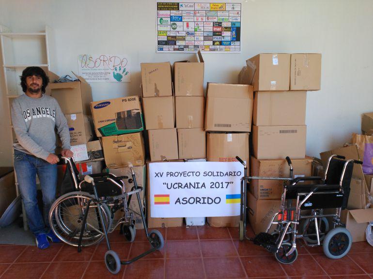 Asorido con la ayuda humanitaria para su Proyecto solidario en Ucrania