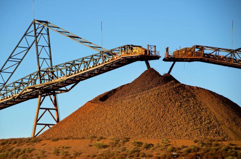 Imagen de una mina de hierro