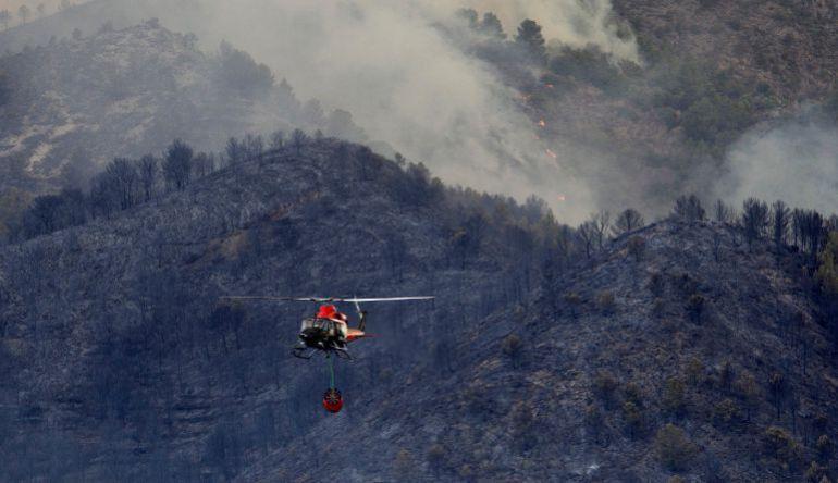 El Consell aprueba las ayudas para paliar los daños del incendio de Artana