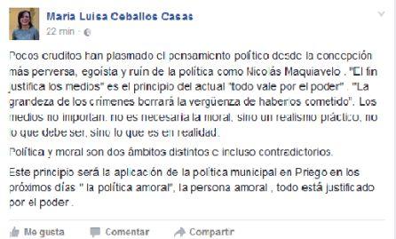 PSOE, PA y Participa Priego preparan una moción de censura a Ceballos
