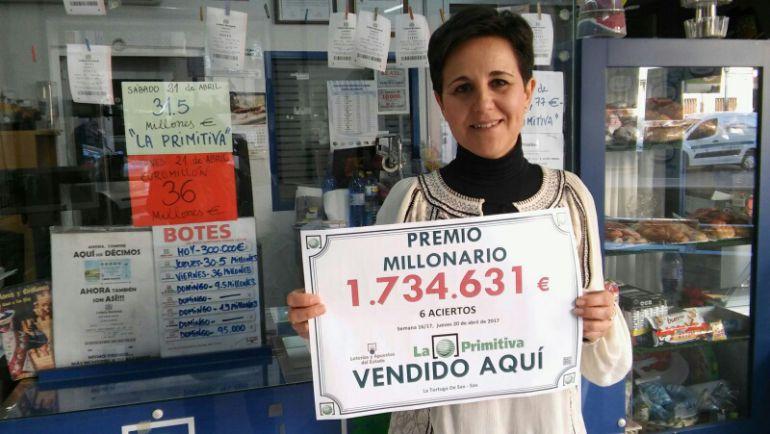 La gerente de la administración La Tortuga, Mari Carmen Santos