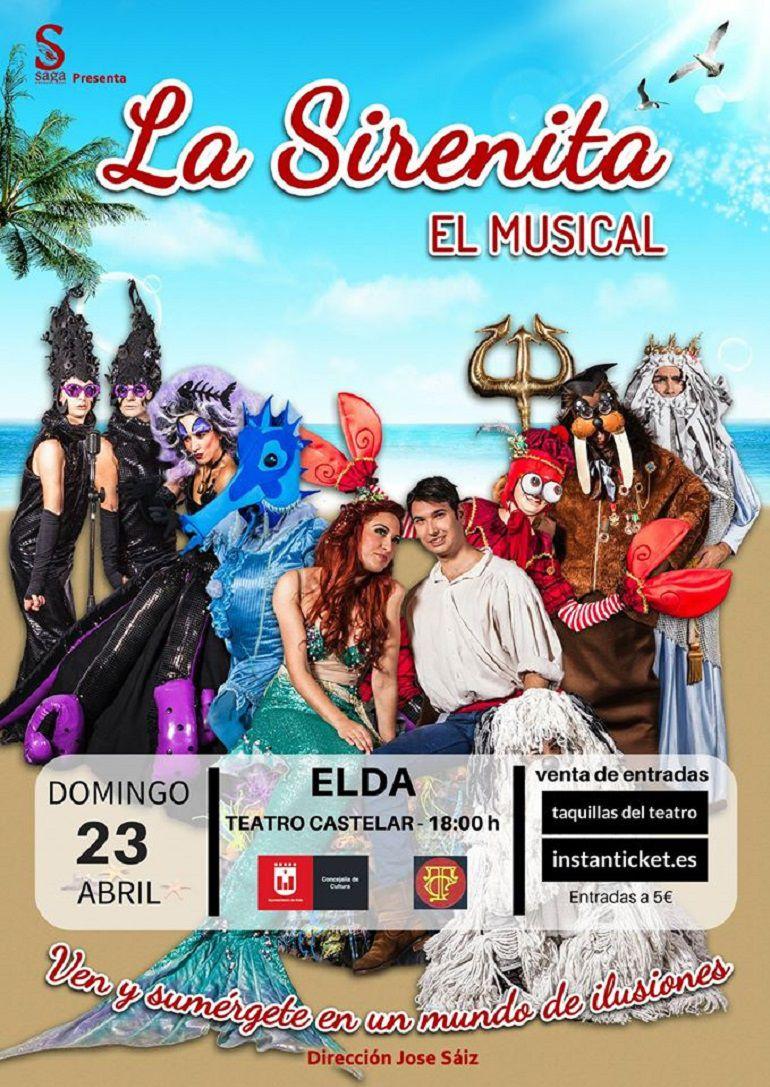El musical infantil de La Sirenita llega al Teatro Castelar este domingo 23 de abril