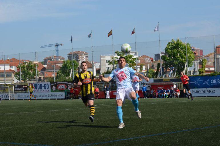 Juan Cabrejo, en el partido del pasado domingo contra el Rápido de Bouzas