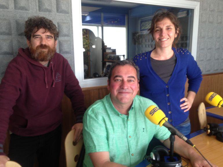 Alberto Ferrer, Toni Ruiz y Luciana Aversa