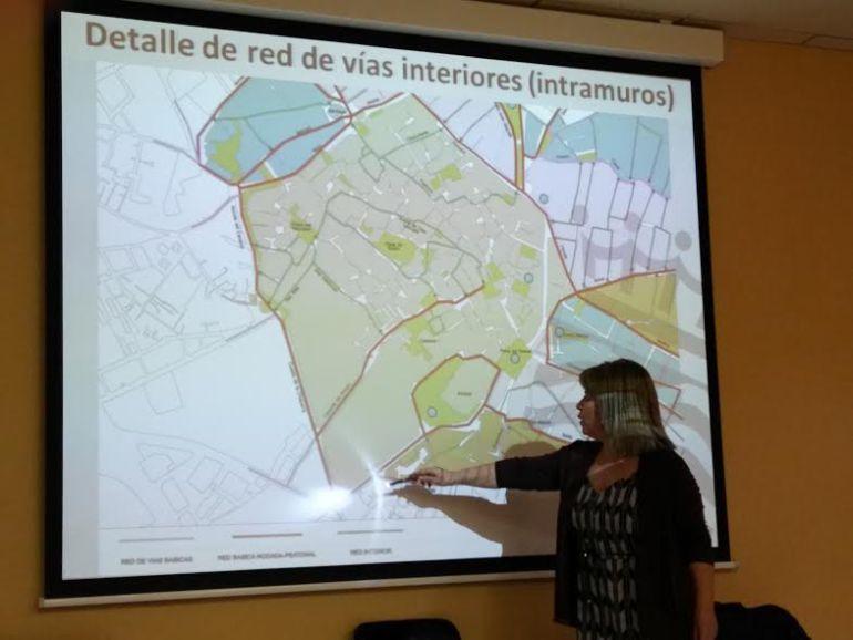 Imagen de la presentación del plan de movilidad sostenible del centro histórico