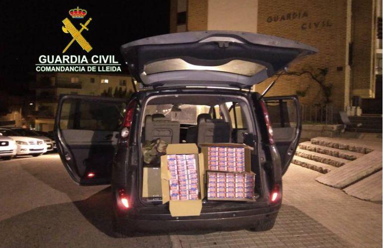 La Guàrdia civil comissa a Civís tabac de contraban valorat en més de 9.000 euros: Comís a Civís tabac de contraban valorat en més de 9.000 euros