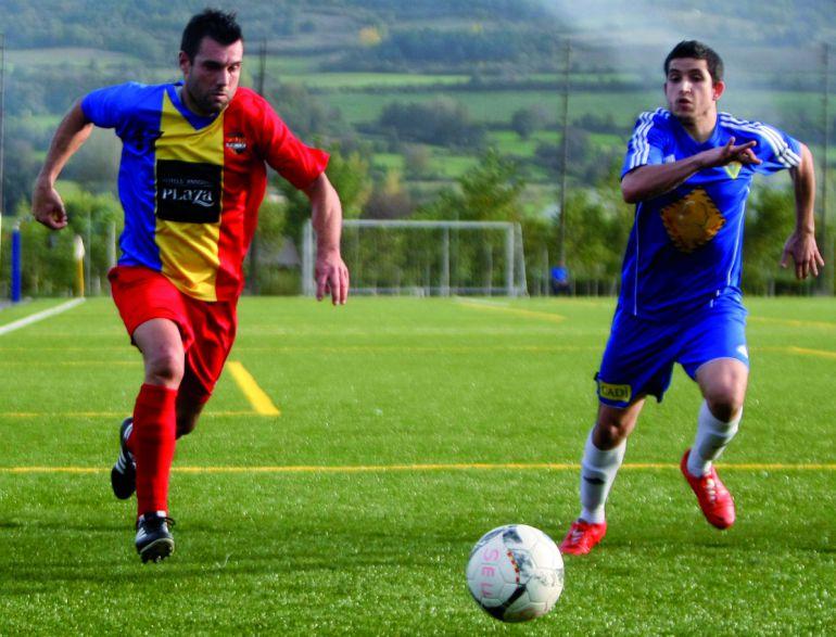 El FC Andorra en un partit davant La Seu.