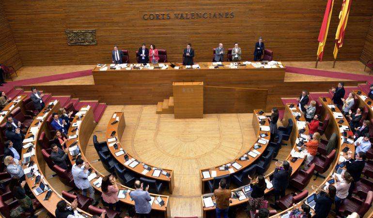 El pleno de les Corts aprobó por unanimidad la declaración institucional contra los PGE