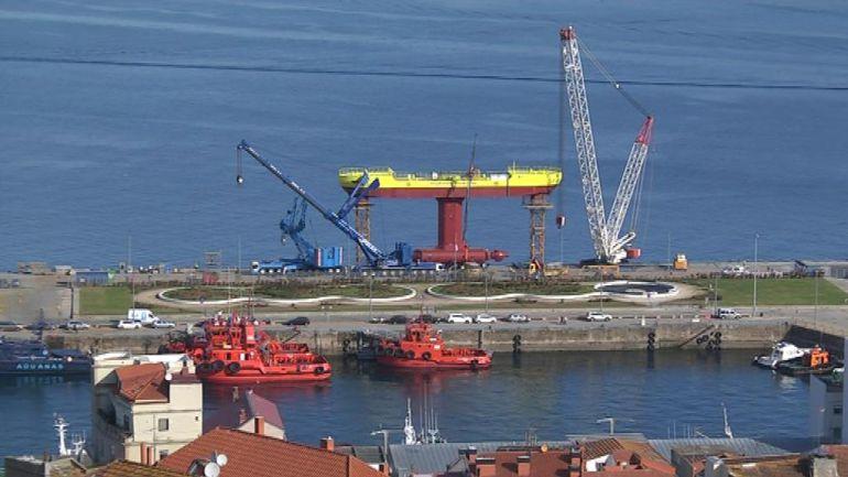 El barco de Magallanes minutos antes de su botadura