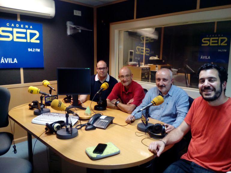 Sergio Sánchez, Guillermo Buenadicha, Cristóbal Medina y Pablo Garcinuño (de izq. a der.) miembros de La Sombra del Ciprés