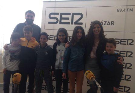 Alumnos del colegio Santiago Cabañas