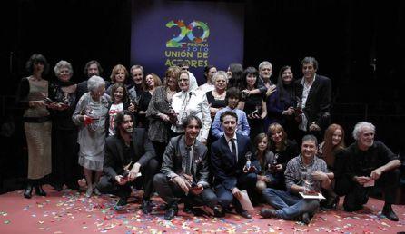 Sonsoles Benedicto (en el centro) en la entrega de premios de la Unión de Actores en 2011, cuando recibió el galardón a la Mejor Actriz.