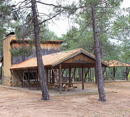 Área recreativa en la laguna de Talayuelas.