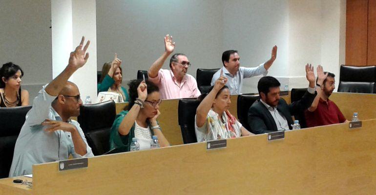 El grupo municipal del Partido Popular en el pleno de Sanse