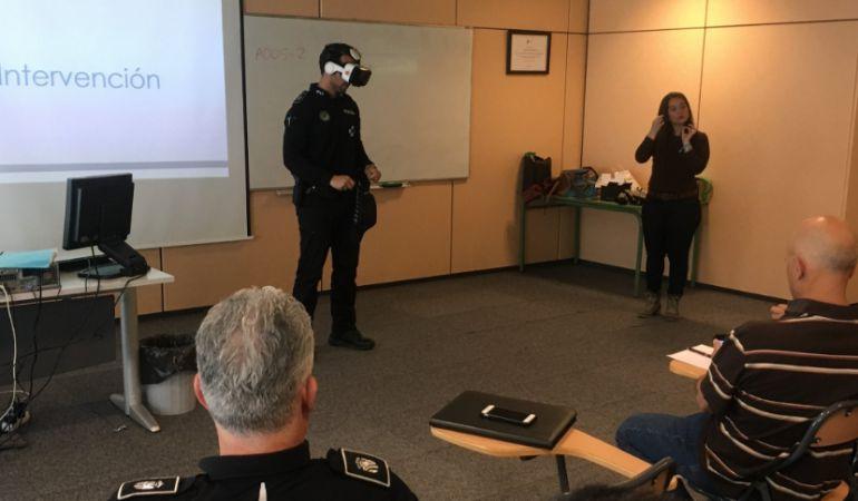 Uno de los momentos de la jornada virtual con realidad virtual
