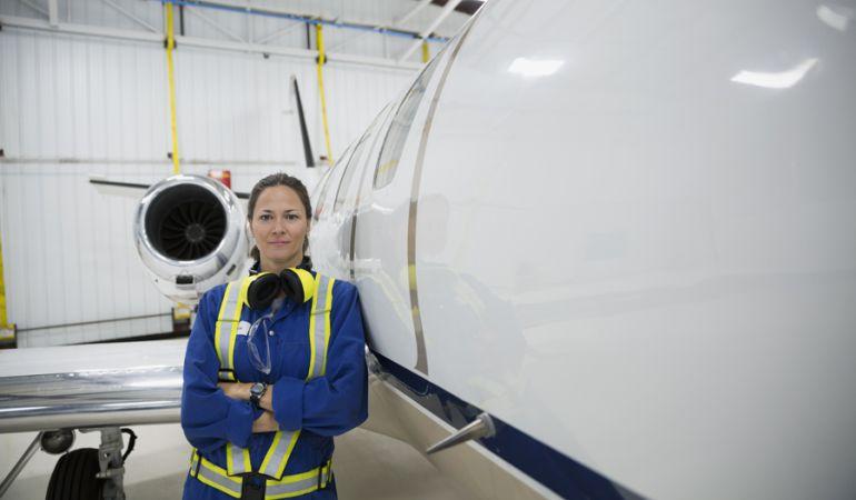 La URJC termina estos días las obras del hangar donde su alumnos podrán hacer prácticas.