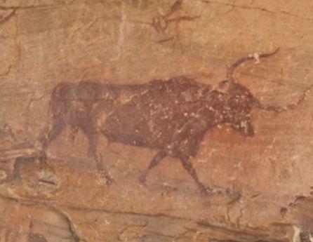 Detalle de una de las pinturas.