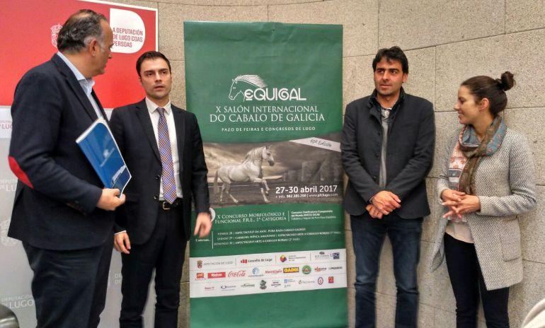 Responsables políticos y de la organización de Equigal y del Pazo de Feiras de Lugo