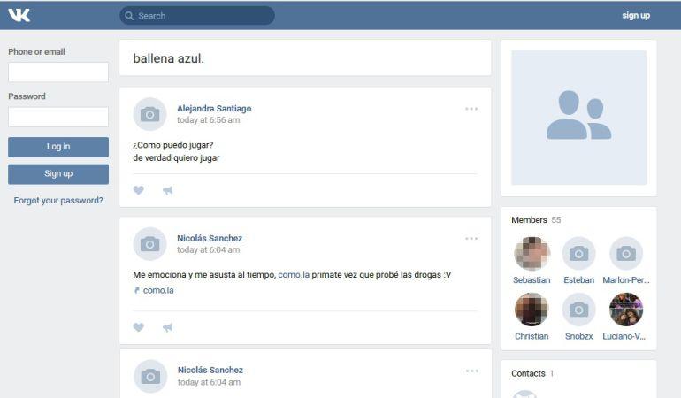 La red social que eligen para hacer los contactos se llama Vkontakte, el equivalente a Facebook en Rusia