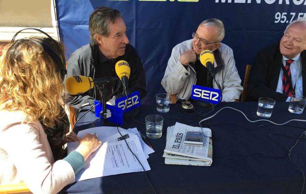 Marga Vives, Iñaki Gabilondo, Michel Barré y Miguel Ángel Moratinos.