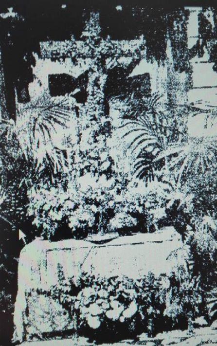 Cruces de mayo en Cuenca en 1945.