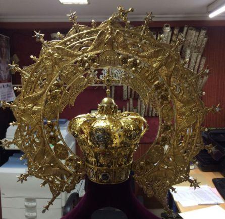 Estado actual de la corona de la Virgen de la Capilla
