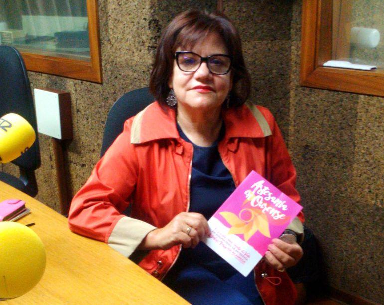 Olga Pereira, presidenta de los artesanos de Ourense, en nuestra emisora