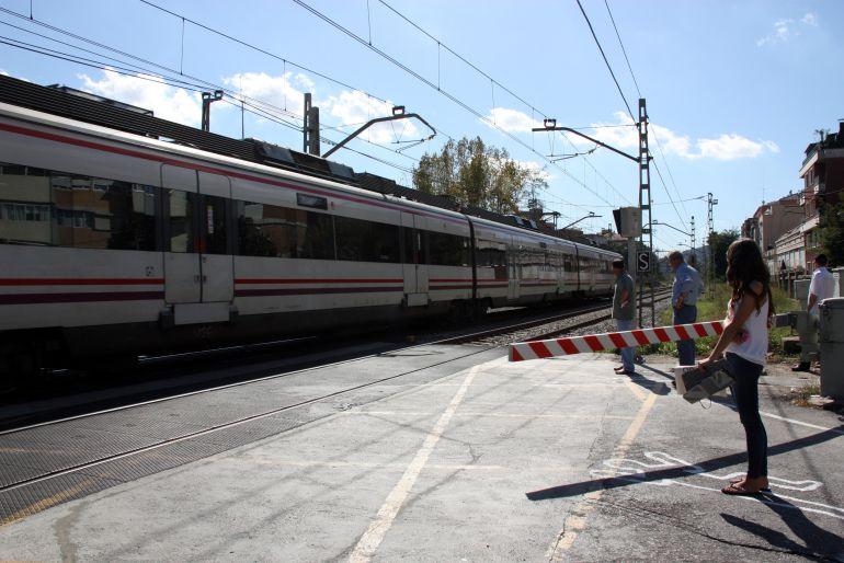 Un tren a Montcada