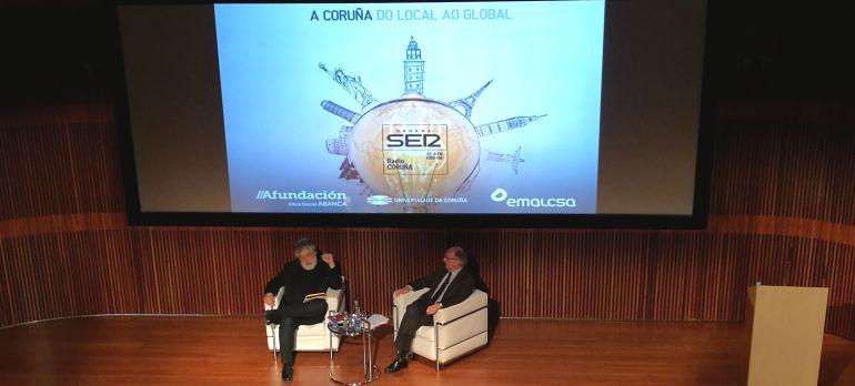 Joaquín Estefanía y Fernando González Laxe