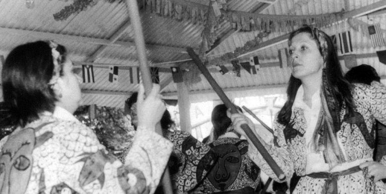 Danza de los diablos de Huete en 1978.