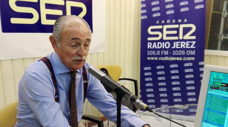 El ganadero Felipe Morenés, en el estudio principal de Radio Jerez