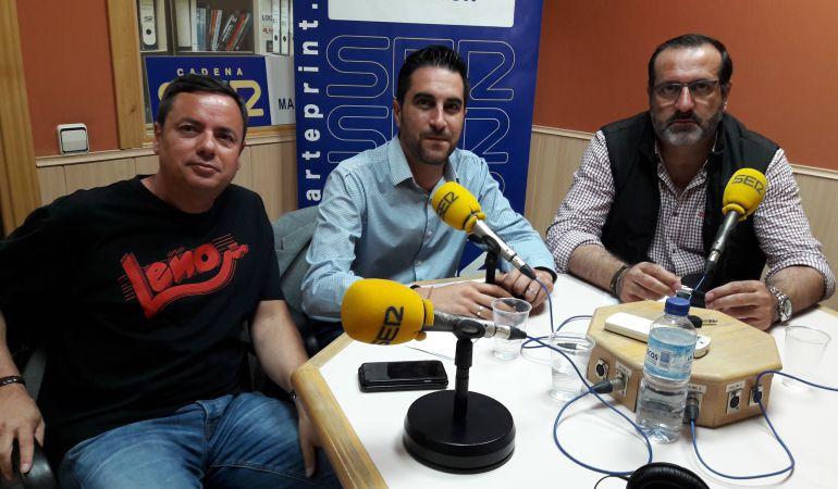 Los representantes de IU CM, PSOE, y PP