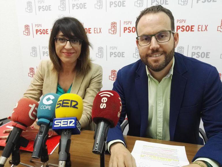 Patricia Maciá y Hector Díez, concejales del PSOE Elche
