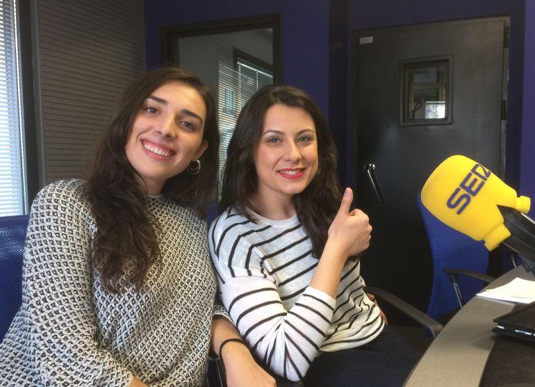 Las organizadoras del festival 'A Pint of Science' en los estudios de Radio León
