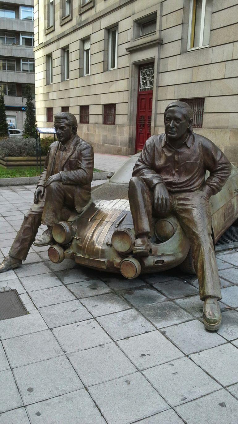 En el corazón de Ourense, se recuerda a los grandes de Escudería Ourense, con el rallye de Ourense. Reverter y Colemán