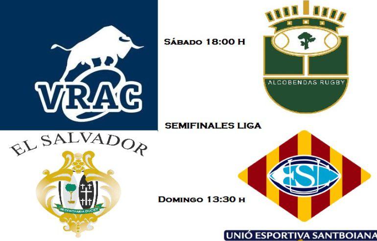 Llegan las semifinales de la Liga: Semifinales de Liga: VRAC-Alcobendas y  El Salvador-Santboiana