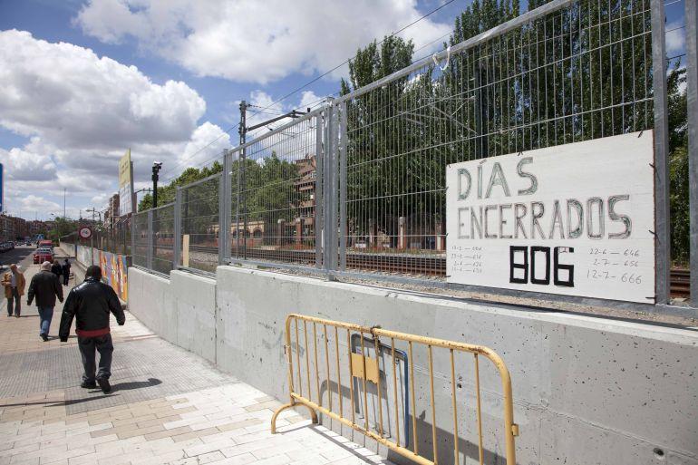 ADIF pide disculpas por las obras en Pilarica, pero el Ayuntamiento abre expediente