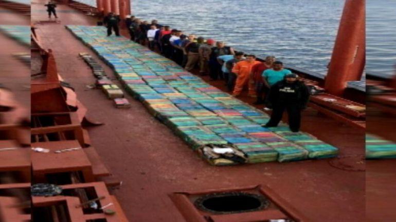 5,5 tonealdas de cocaína incautadas en alta mar