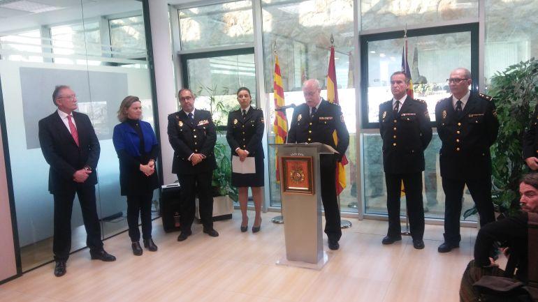Mariscal de Gante en el acto de toma de  posesión en Ibiza