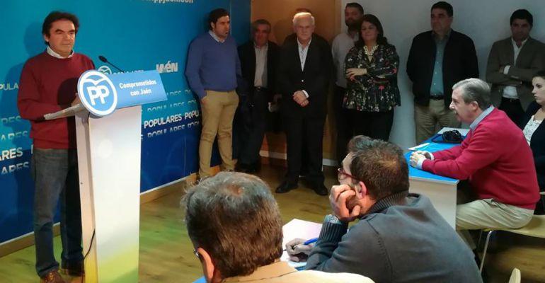 Miguel Moreno comparece ante la prensa en una rueda de prensa celebrada hace unos días.