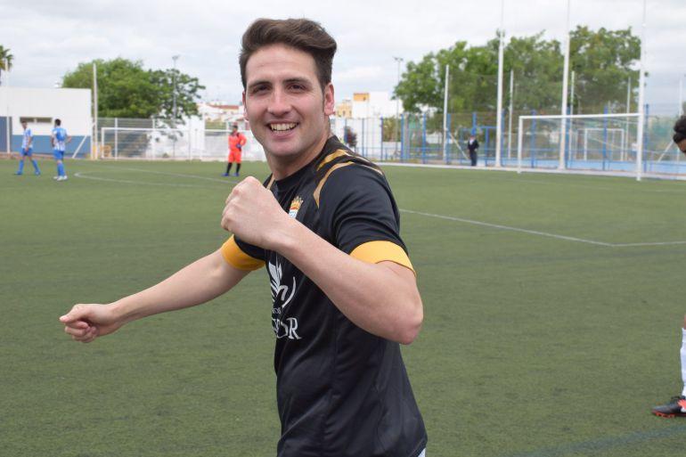 Juanito Benítez, durante un partido en La Juventud