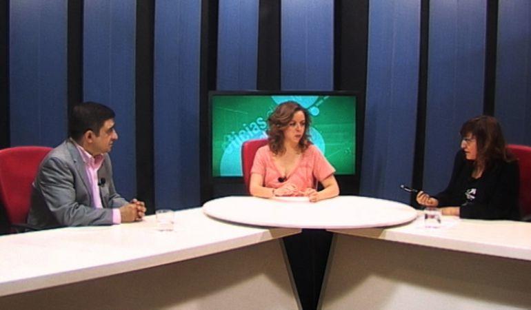 Francisco Reyes en los estudios de Diez Tv