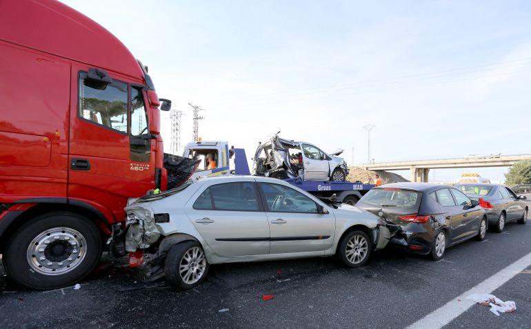 El conductor del camión que arrollo a seis vehículos da negativo a la prueba de alcohol y drogas