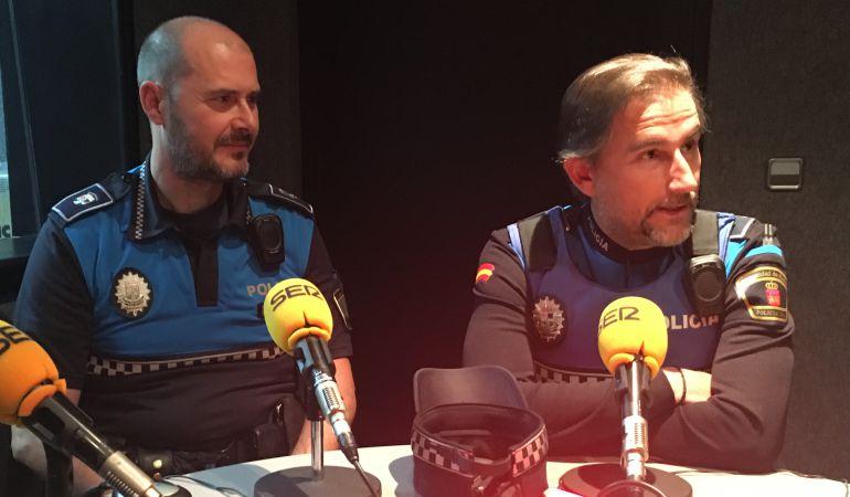 Fernando Miguel y Eugenio Ortiz, policías locales de Alcobendas
