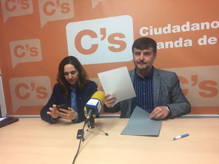 Elia Salinero y Francisco Martín, concejales de Ciudadanos