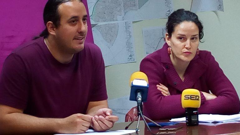 Mario Martín y Laura del Pozo componen el grupo municipal de SSP Aranda