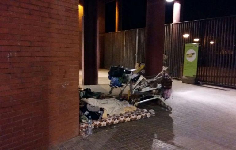 Més d'un miler de persones dormen als carrers de Barcelona