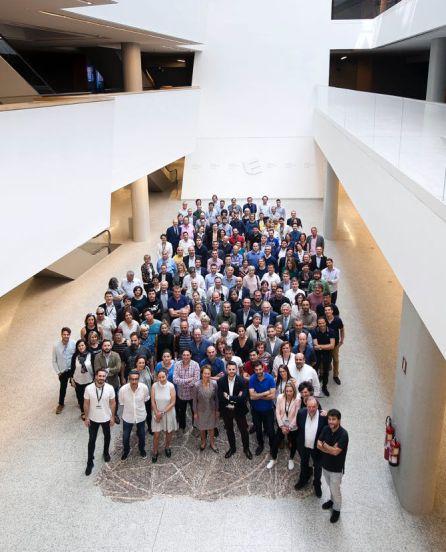 Organizadores de la cata y bodegueros participantes